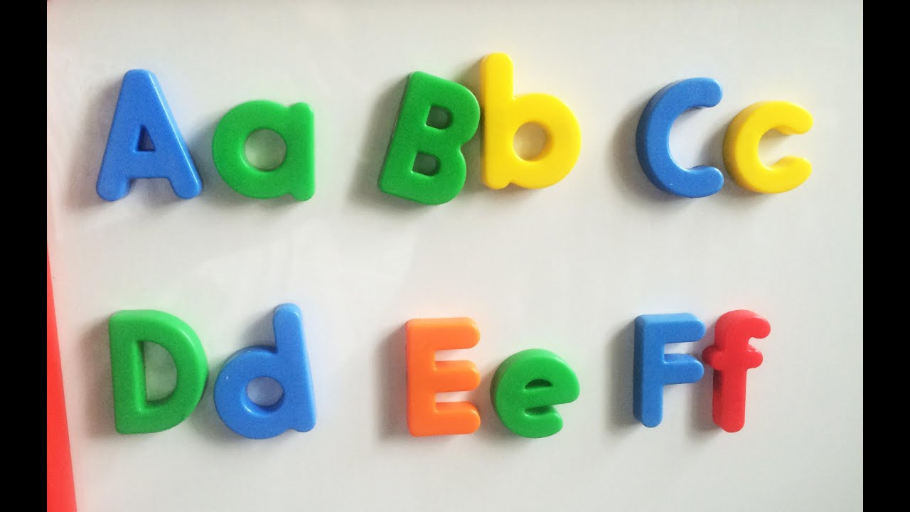 Learning phonics using alphabet fridge magnets a f pt 1 4 for Letter fridge magnets game