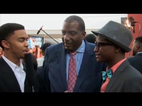 #STI740 interviews cast & Senator Royce West & Mayor Mike Rawlins@ Carter High Red Carpet