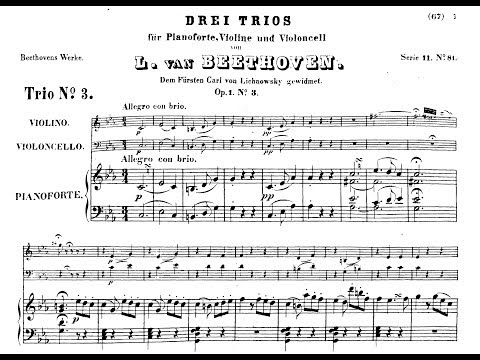 Beethoven - Piano Trio in C minor (op.1 no.3) 1/3