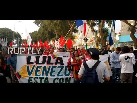 Live: March against 'US imperialism' hits streets of Lima ahead of Summit of the Americas