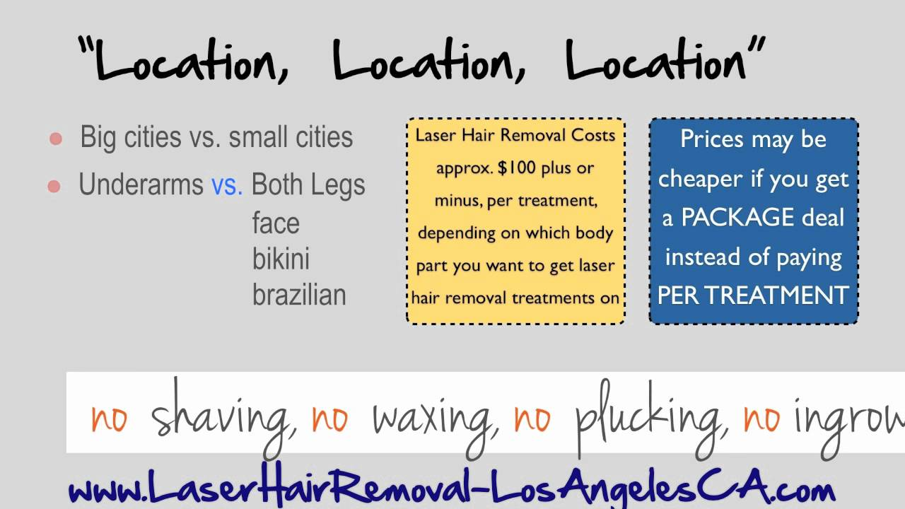 LA Laser Hair Removal Prices in Los Angeles