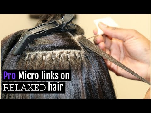 professional-micro-links-on-relaxed-hair-#hairtips---los-angeles