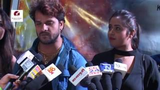 "खेसारी लाल यादव, Kajal Raghwani Attend Bhojpuri Film  ""Production no 5"" Muhurat"