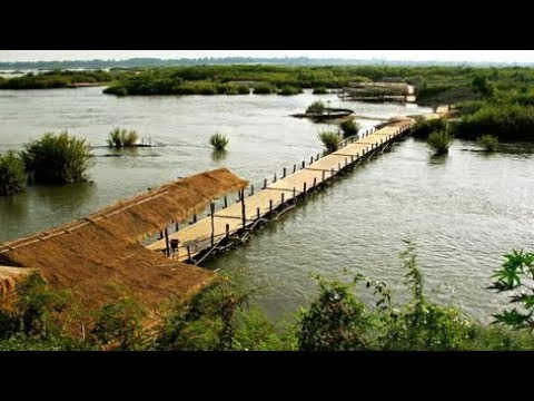 Kratie Province from Drone, Kratie City in Flood, Cambodia Tour