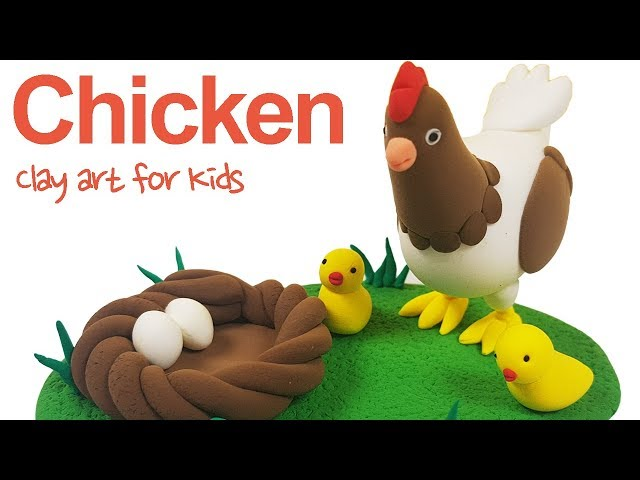 Farm animals #2 |Clay Chicken For Kids | How To Make A Clay Chicken | Clay modeling