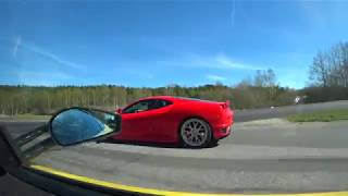 [4k] 707 HP Novitec Rosso F430 Race Bi-Kompressor vs 510 HP Ferrari 430 Scuderia UNCUT May Event