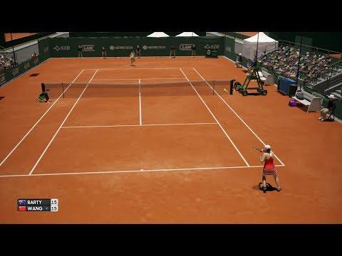 Ashleigh Barty vs Qiang Wang - AO International Tennis PS4 Gameplay