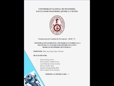 Optimización de la bomba centrífuga por CFD