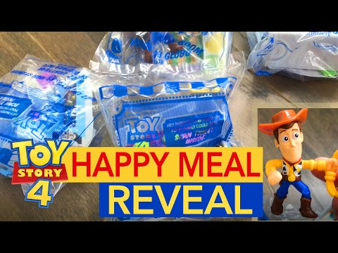 TOY STORY 4 Happy Meal Toys Revealed: Buzz/Woody/Bo/Alien - McDonald\'s TOY STORY 4 Toys Unboxing