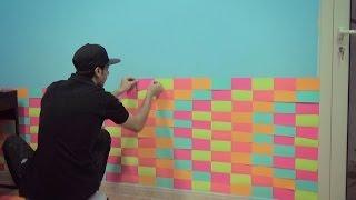 وغيرنا لون جدار الغرفة ^_^