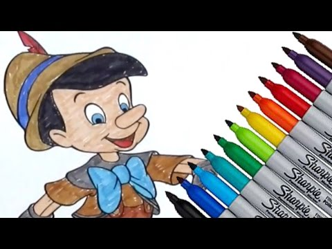 Pinocchio Disney Movies Coloring Page 2016 New HD Video For Kids