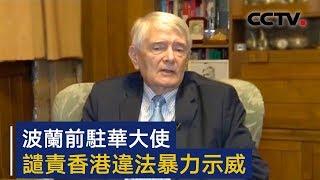 波兰前驻华大使谴责香港违法暴力示威 | CCTV