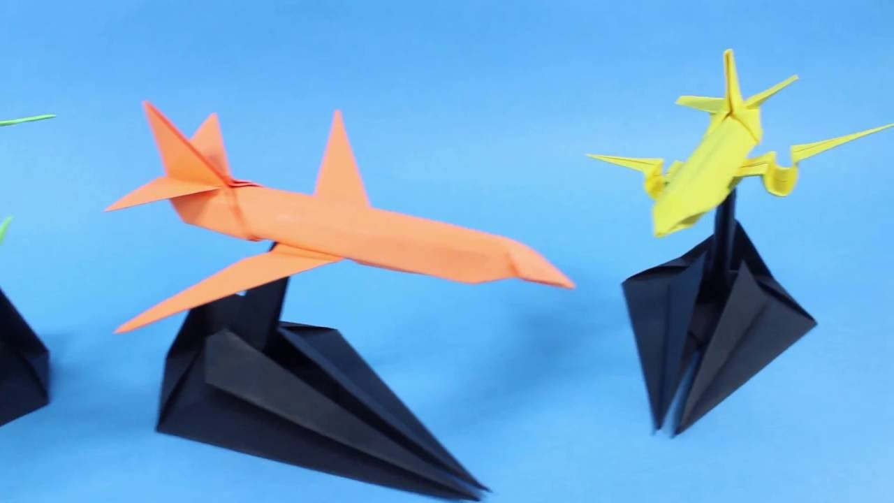 paper airplane origami stand youtube