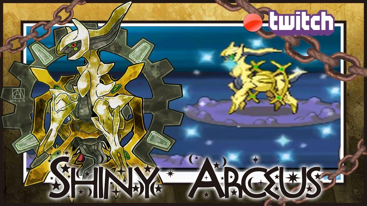 live on stream shiny arceus on pokemon diamond after