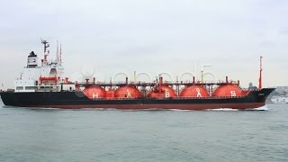 Tanker Ship Designed For Liquefied Petroleum Gas Transportation. Stock Footage