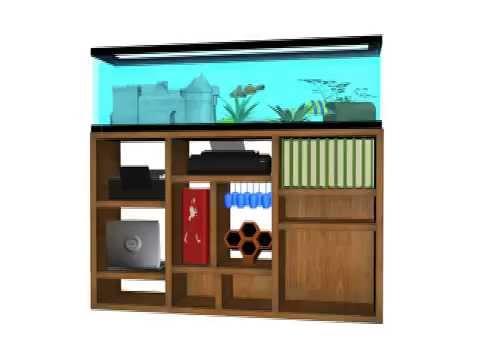 Mueble de acuario ideal para oficina youtube - Mesa dibujo ikea ...
