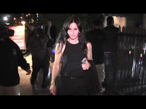 Courteney Cox Celebrates 49th Birthday With Brian Van Holt And Friends