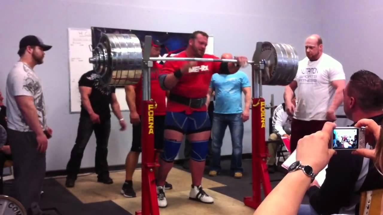 593cb83a76d04c Louis-Phillipe Jean - 900 lb   409 kg Squat in wraps - YouTube