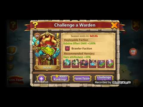 Castle Clash | Challenge A Warden | Oracle Level 40 | 186 Million