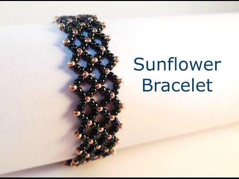 Sunflower Bracelet Tutorial