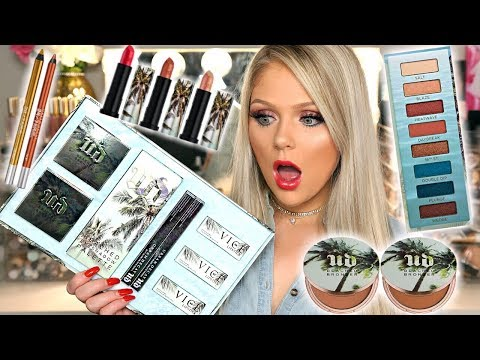 NEW URBAN DECAY BEACHED COLLECTION   FIRST IMPRESSIONS REVIEW & TUTORIAL