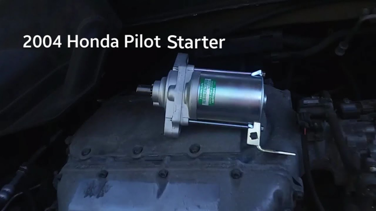 2004 Honda Pilot Starter How To Remove Replace