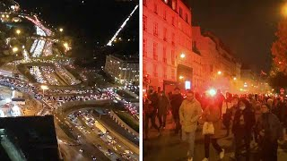 video: 400 miles of traffic jams in Paris as wealthy head to countryside to sit out lockdown in second homes