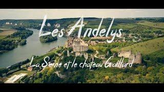 Les Andelys, la Seine et le château Gaillard | 4K DRONE FOOTAGE