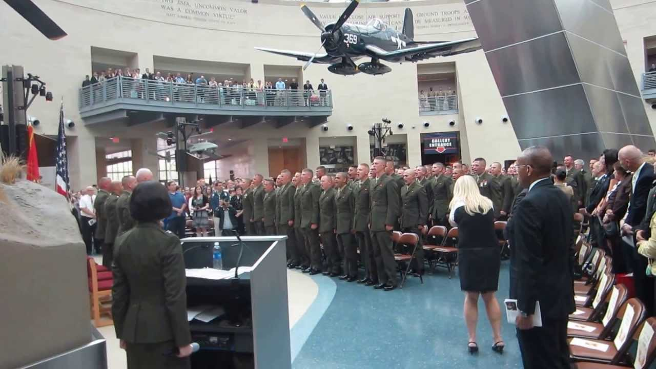 jeff phaneuf usmc ocs graduation marine corp hymn youtube