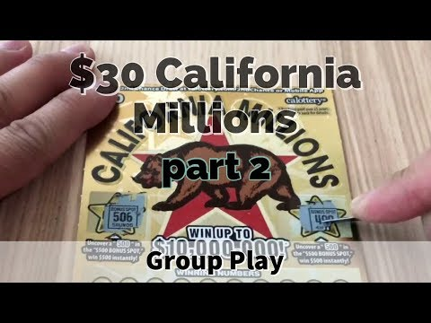 4 Books Calif Millions Part 2 - $3,600 Group