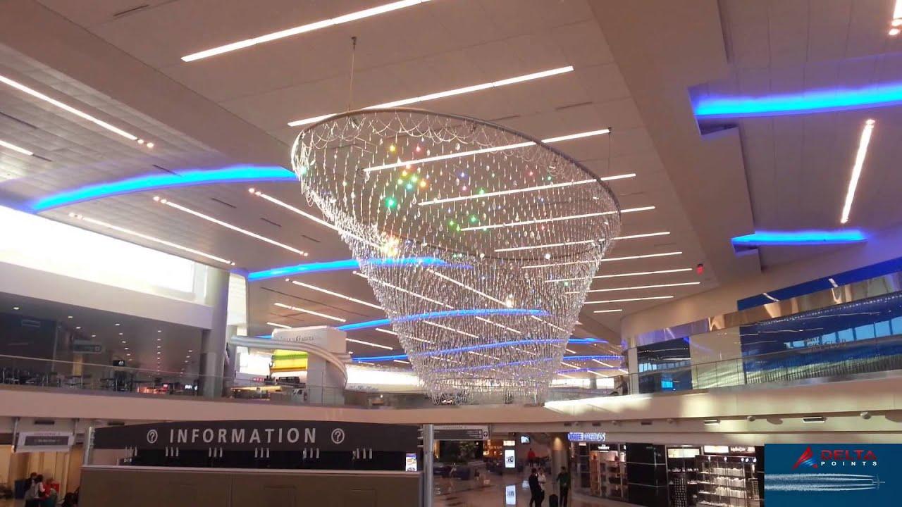 Atlanta airport terminal f million dollar chandelier sparkles like atlanta airport terminal f million dollar chandelier sparkles like diamonds in morning sun youtube aloadofball Image collections