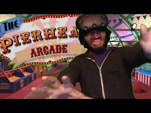 A WHOLE ARCADE TO MYSELF?! | Pierhead Arcade VR | Virtual Reality Videos / HTC Vive Gameplay