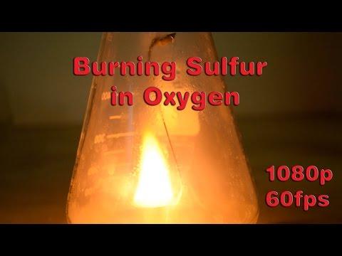 Burning Sulfur in Oxygen