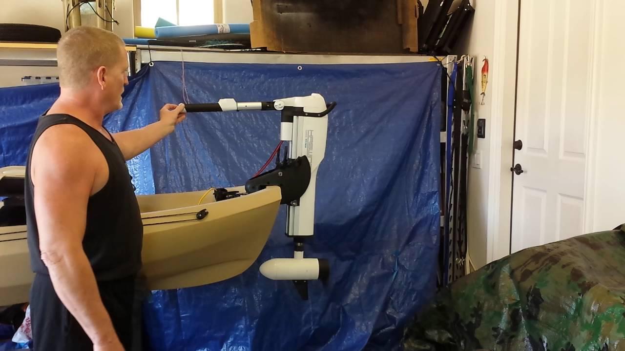 12V 55 LB Haswing Comax Kayak Trolling Motor Demo