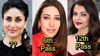 5 very less educated bollywood actress