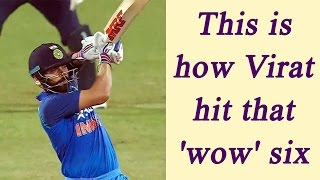 Virat Kohli explains, how he hit that 'wow' six in Pune ODI | Oneindia News