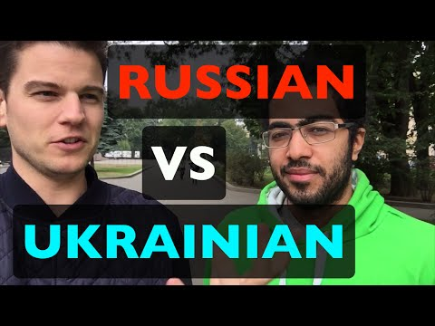 Differences between Russian and Ukrainian