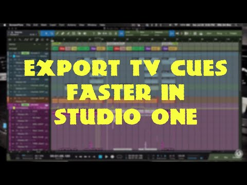 How To Export Music Cue for TV in Studio One
