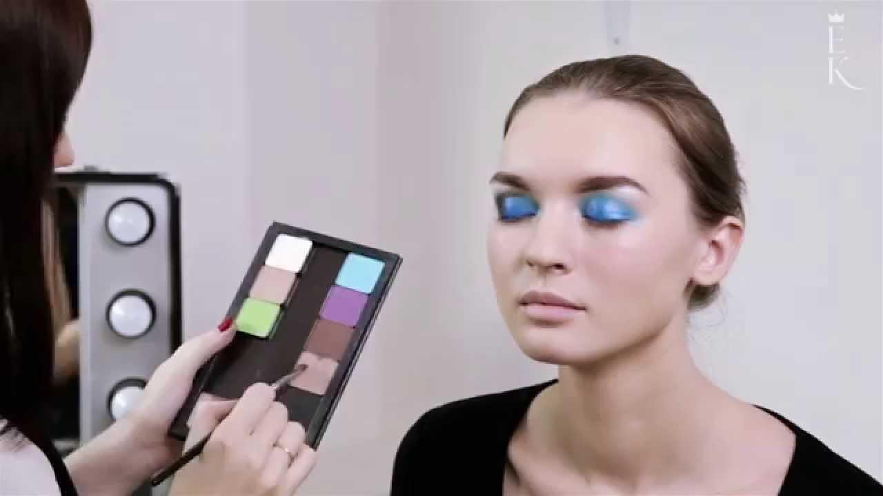 Вечерний макияж с помощью ярких пигментов. Косметика Inglot.