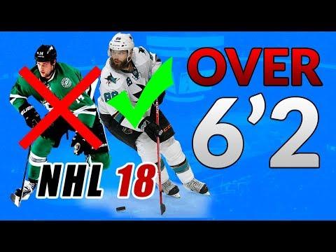 OVER 6'2 FANTASY DRAFT CHALLENGE! (NHL 18 Franchise Mode)