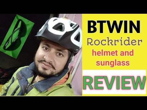 bb95f9bd7 Review of BTWIN ROCKRIDER ST 100 helmet and sunglass from Decathlon store