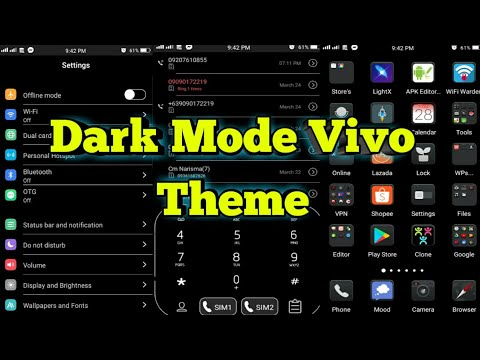 Dark Mode Theme For Vivo Phones