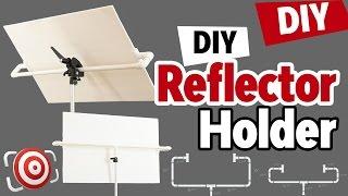 DIY Photography Studio Reflector Holder and One Light Portrait Lighting Tutorial