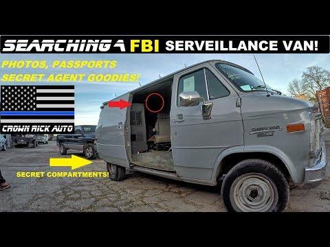 Searching a FBI Surveillance Van! Found Secret Agent Police Goodies!