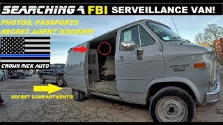 connectYoutube - Searching a FBI Surveillance Van! Found Secret Agent Police Goodies!