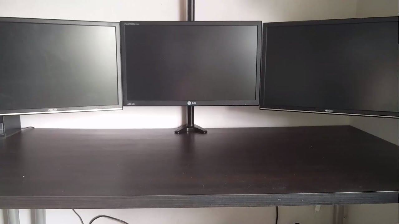 Hftek 3 Monitor Halterung Mp230c L Deutsch 1080p Youtube