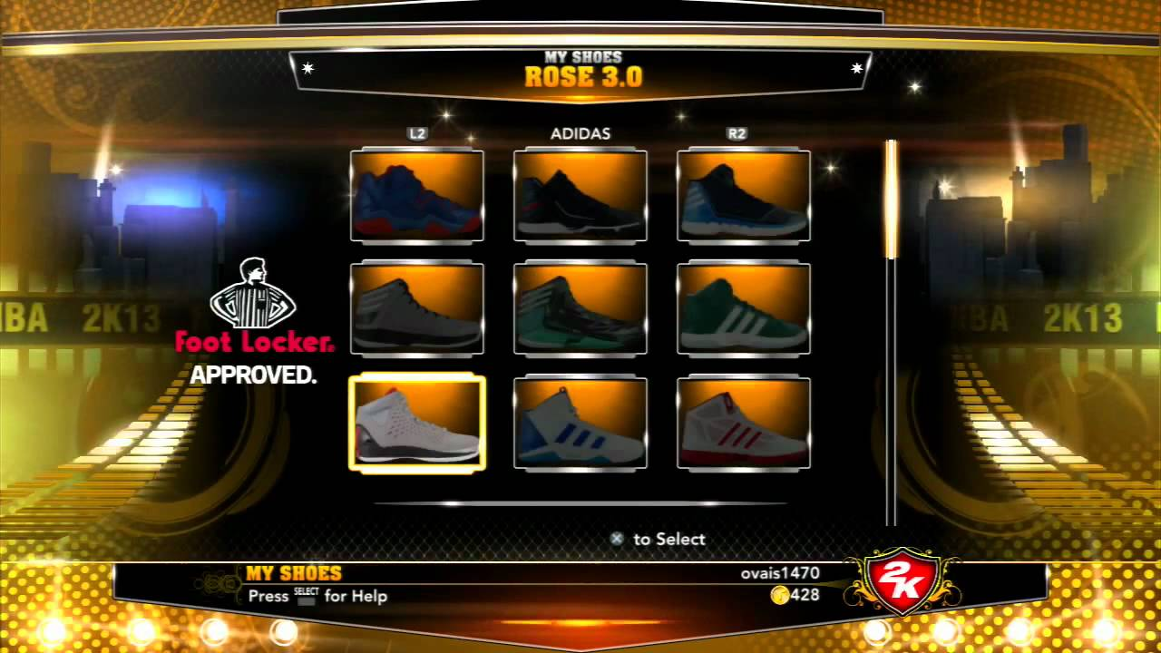 NBA 2K13 - All Shoes From Nike, Reebok, Adidas, Converse & More - YouTube