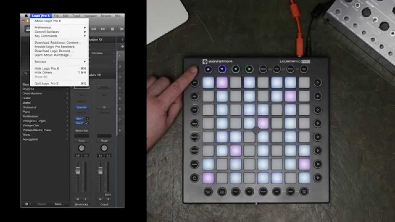 novation launchpad pro with logic pro x youtube. Black Bedroom Furniture Sets. Home Design Ideas