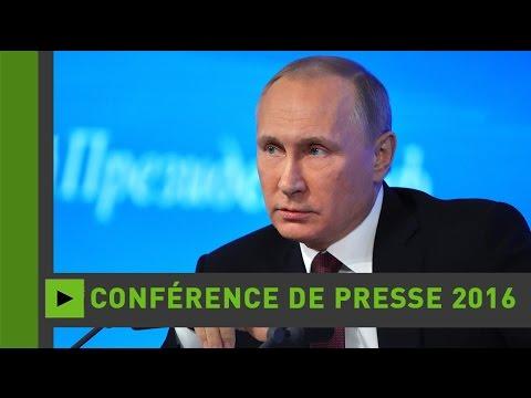 Douzième conférence de presse annuelle de Vladimir Poutine (Direct du 23.12.16)