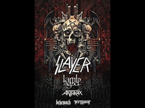 Slayer confirm final 2018 North America summer tour w/ LAMB OF GOD, ANTHRAX, TESTAMENT + Behemoth